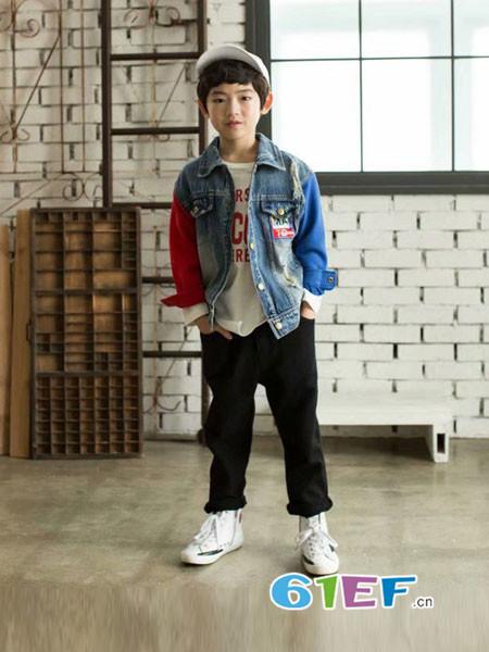 酷小孩童装品牌2018秋冬牛仔外套