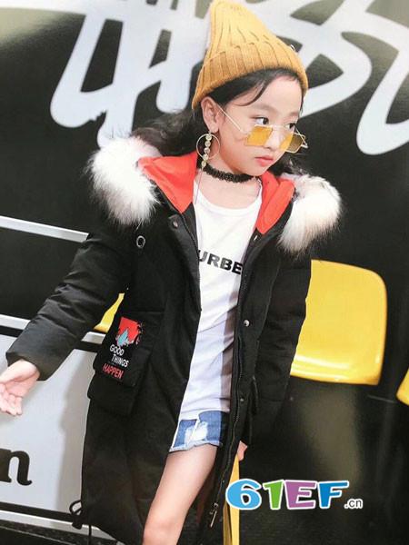 酷小孩童装品牌2018秋冬棉袄外套