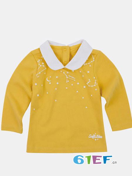 SOFTLOVE童装品牌2018秋娃娃领长袖T恤