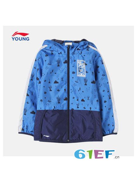 李宁童装童装品牌2018秋冬棒球外套