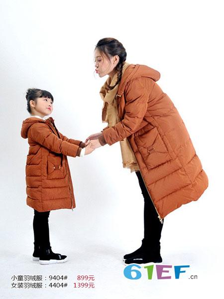 天使舞台情侣亲子2018秋冬韩版加厚连帽羽绒棉棉服中长款面包服棉衣