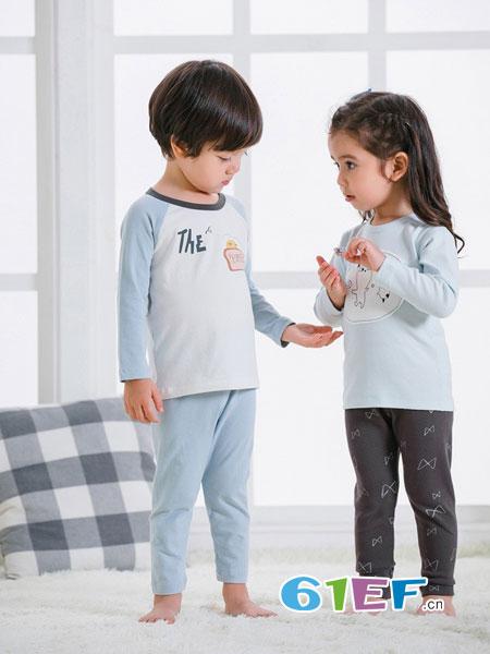 JM/Joy&more童装品牌2018秋冬新生儿童肩扣圆领长袖打底衫