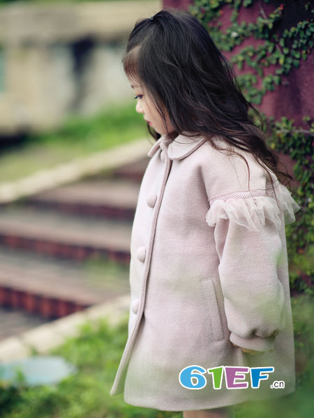 熙熙Ceicei龙8国际娱乐官网品牌2018秋冬新童大衣中大童韩版中长款风衣