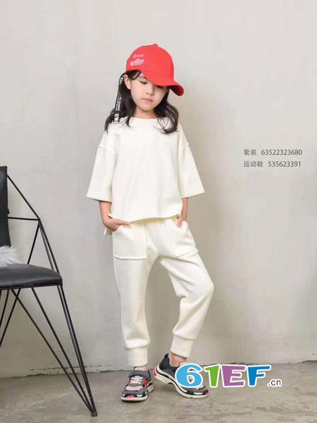 Mocodemoco童装品牌2018秋季款针织衫中小儿童低领线衣