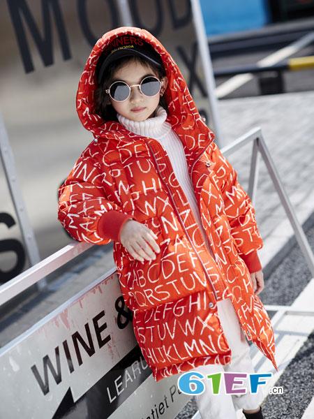 欧卡星龙8国际娱乐官网品牌2018秋冬新款韩版中大儿童棉袄中长款宝宝加厚棉服潮
