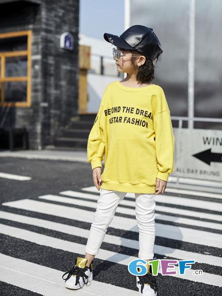 欧卡星童装品牌2018秋冬女童长款套头针织羊绒衫
