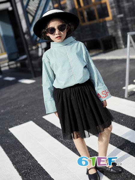 欧卡星童装品牌2018秋冬高领毛衣纯色修身打底衫儿童韩版长袖针织衫