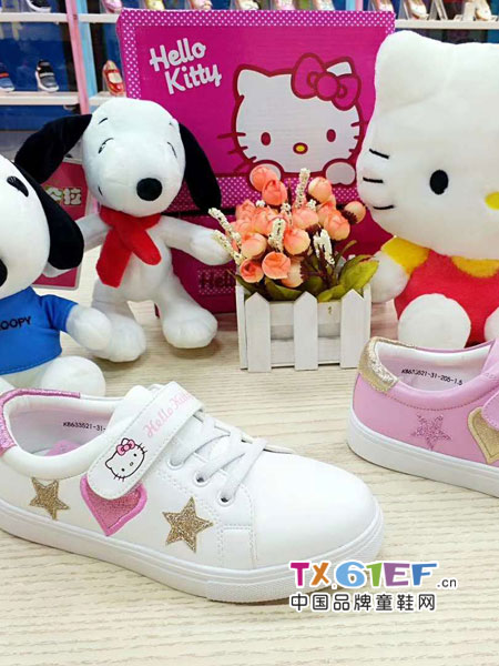 Hello Kitty凯蒂猫童鞋品牌2018秋冬女童小白鞋男童运动鞋
