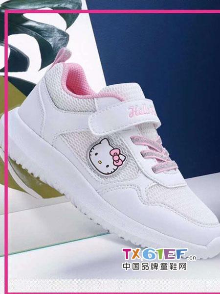 Hello Kitty�P蒂�童鞋品牌2018秋冬女童小白鞋男童�\�有�