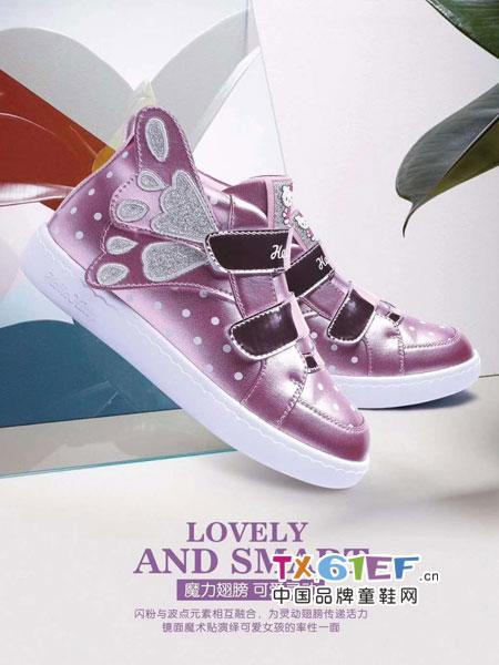 Hello Kitty凯蒂猫童鞋加盟简洁的帮面与秀气的楦型
