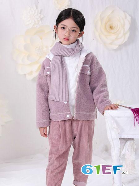 恋衣臣童装品牌2018秋冬新款毛衣宝宝中长款加绒外套