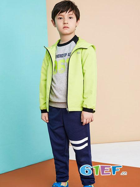 dishion的纯童装品牌2018秋冬新款棉衣加厚中长款棉袄毛领外