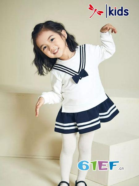 红蜻蜓KIDS童装品牌2018秋冬新款韩版儿童套头针织女宝宝毛衣裙