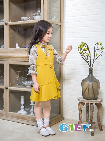 童品壹仓童装品牌2018秋冬新款韩版中大儿童洋气两件套女孩时尚时髦童装