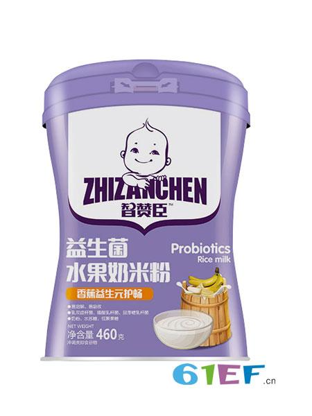 智赞臣婴儿食品2018春夏益生菌水果奶米粉