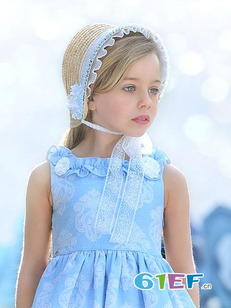 米兰达童装品牌2018春夏宫廷复古公主女童大童连衣裙