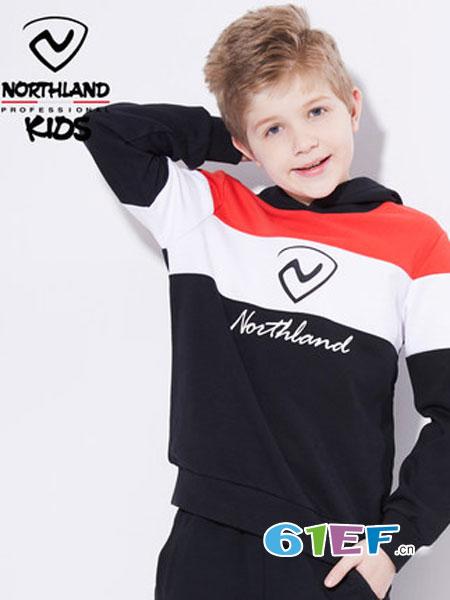 诺诗兰童装品牌2018秋冬新款儿童保暖运动打底衫长袖上衣
