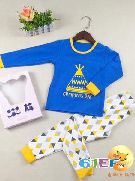 皮咖丘童装品牌2018秋冬儿童套装 纯棉宽松长袖