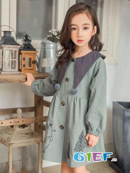 YOUNGER YO童装品牌2018秋冬森系连身衣