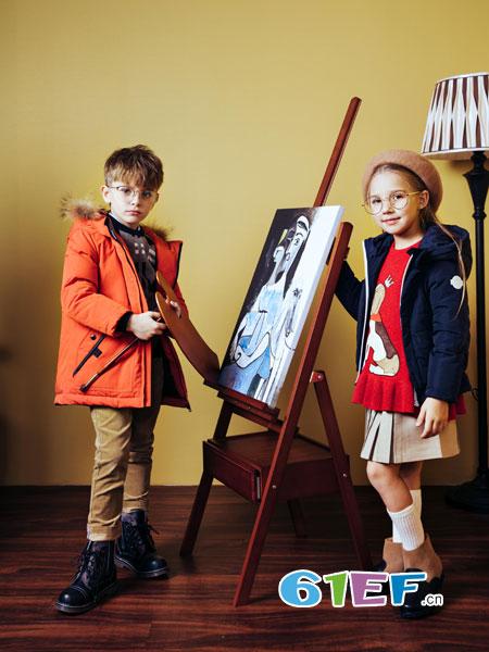 哈吉斯龙8国际娱乐官网品牌2018秋冬男童羽绒服中大童儿童保暖中长款外套羽绒服