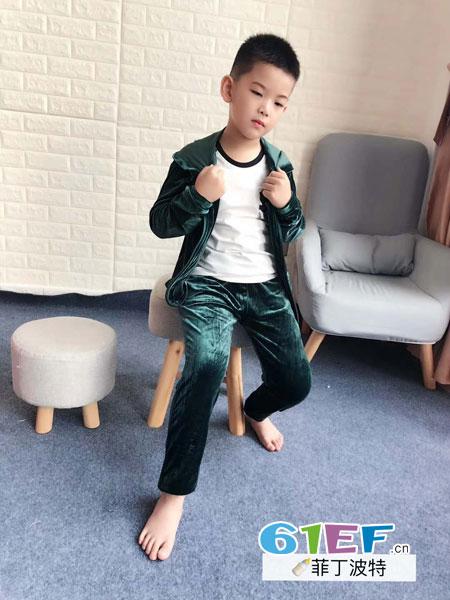 菲丁波特童装品牌2018秋冬中大儿童时尚休闲拉链衫夹克外套