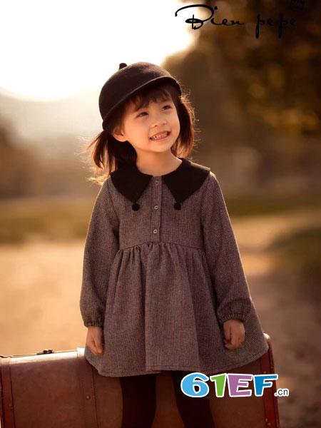 贝比Bienpepe童装品牌2018秋冬时尚洋气儿童中小童秋季格子裙
