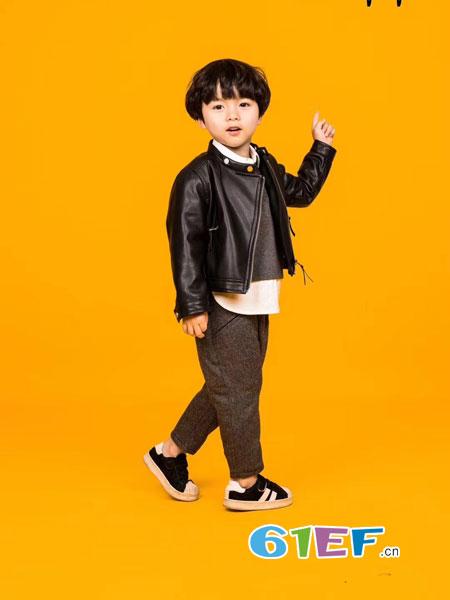 贝比Bienpepe童装品牌2018秋冬新款儿童皮外套中大童欧美皮夹克潮