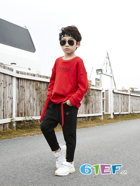 名书曼秀龙8国际娱乐官网品牌2018秋冬加厚套头长袖中大童百搭儿童卫衣上衣