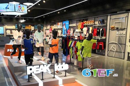 匹克童装PEAK KIDS 青少年运动店铺展示