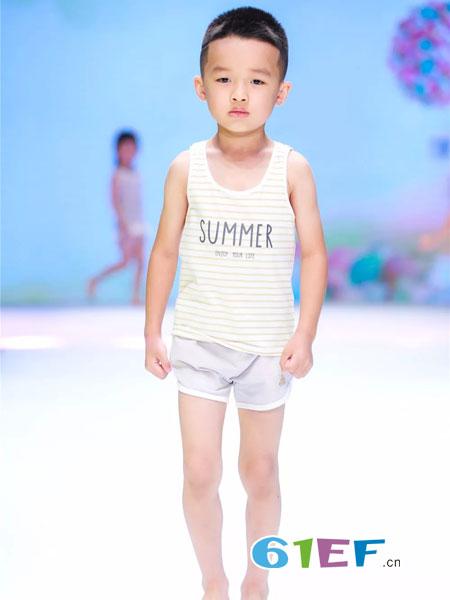 你好云朵Hello cloud童装品牌2018春夏短袖中性大童大码条纹外穿薄款