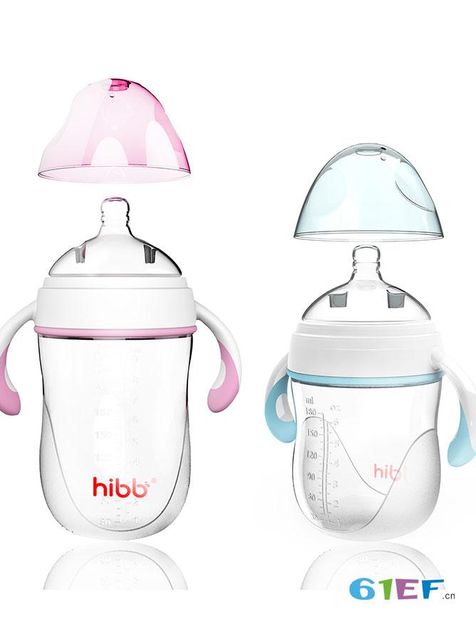 浩一贝贝婴童用品新生儿宽口径带手柄吸管 宝宝防摔断奶奶瓶
