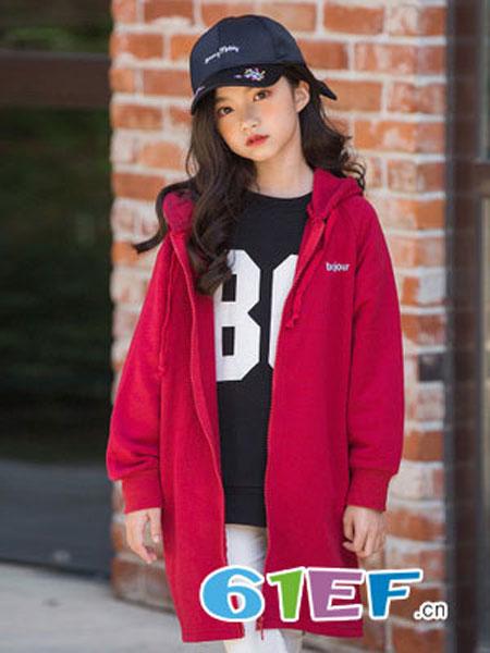 抱抱哦龙8国际娱乐官网品牌2018秋冬拉链衫连帽长袖加绒卫衣外套
