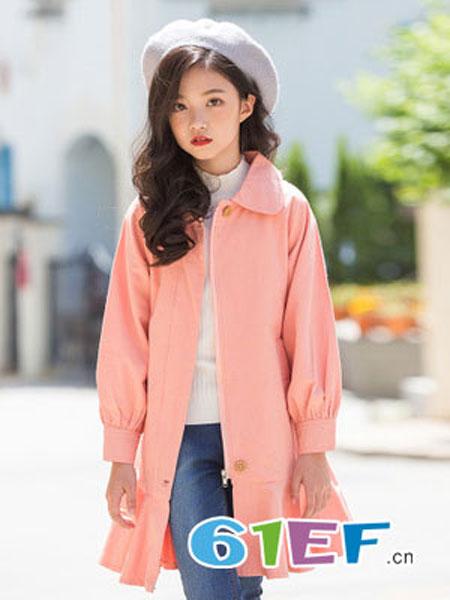 抱抱哦龙8国际娱乐官网品牌2018秋冬长袖女童双排扣外套