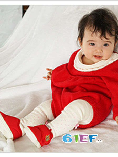 卡特兔童装品牌红色纯棉童鞋