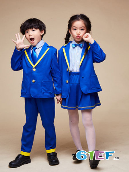 七朵童爱童装品牌英伦礼服套装校服