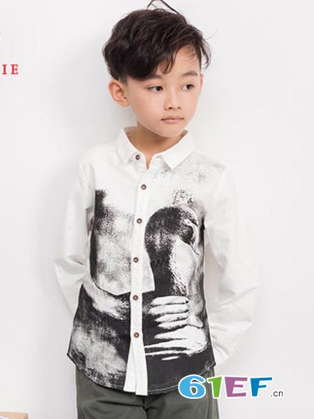 尼克nickie龙8国际娱乐官网品牌2018秋冬简约时尚印花衬衫