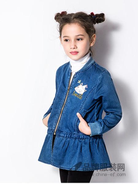 广州天天向上品牌童装折扣中心童装品牌2018秋冬你在连衣裙