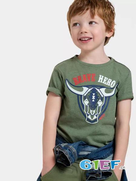 JillMitch童装童装品牌图案休闲短袖