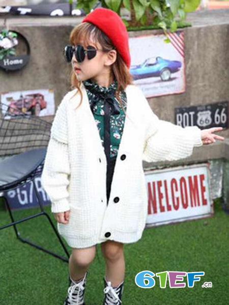 七仔七妹童装品牌纯色针织开衬
