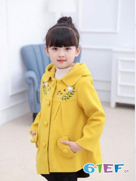 七仔七妹童装品牌黄色休闲外套