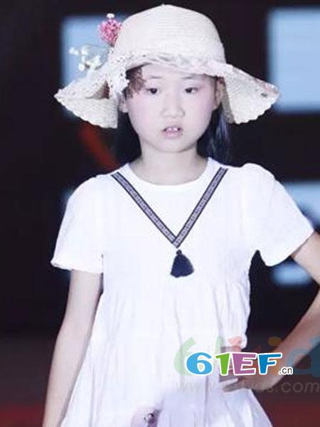 迷你狗龙8国际娱乐官网品牌短袖连衣裙