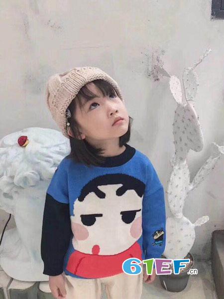 潮尚小牛童装品牌2018秋冬长袖羊绒衫卫衣