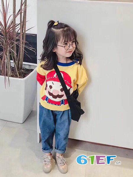 潮尚小牛童装品牌2018秋冬运动长袖休闲卫衣