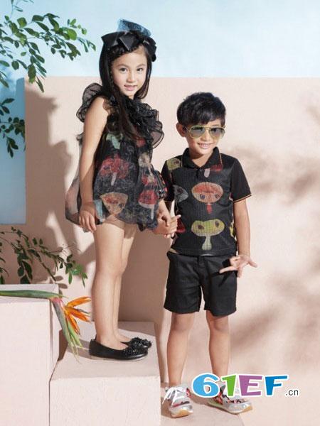 猪跑跑龙8国际娱乐官网品牌图案男女童套装