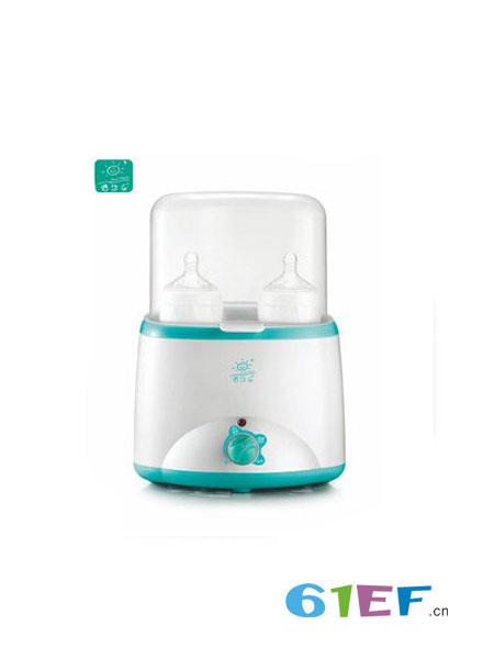 倍尔乐婴童用品2018春夏双奶瓶暖奶器蒸汽消毒温奶器多功能调奶器HB-017