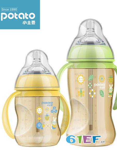 小土豆婴童用品2018秋冬奶瓶ppsu耐摔宽口径