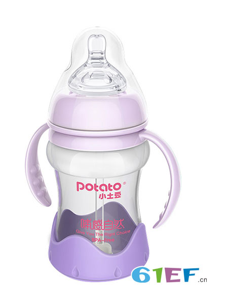 小土豆婴童用品2018秋冬婴儿宽口玻璃奶瓶