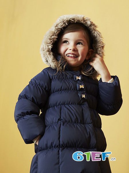 MIKI HOUSE童装品牌2018秋冬新款韩版加厚保暖休闲棉服女宝宝棉袄外套潮
