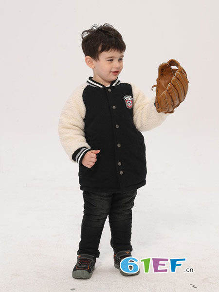 采童庄,采童莊童装品牌2018秋冬新款儿童夹克休闲男孩外套上衣