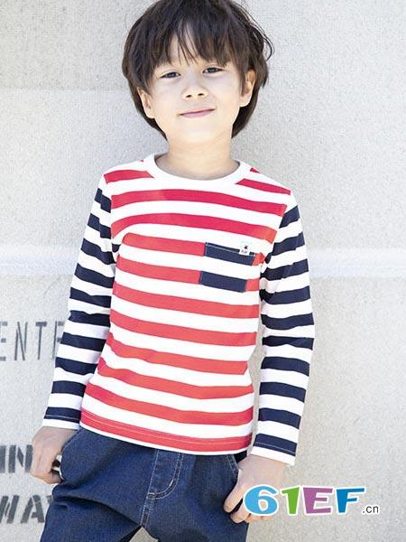 SLAP SLIP童装品牌2018秋冬条纹上衣